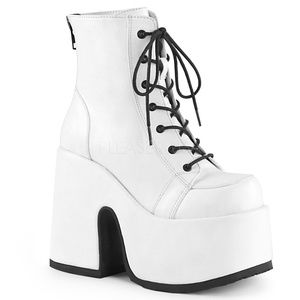 """Shoes - 5"""" Chunky High Heel Platform Lace-Up Ankle Boots"""